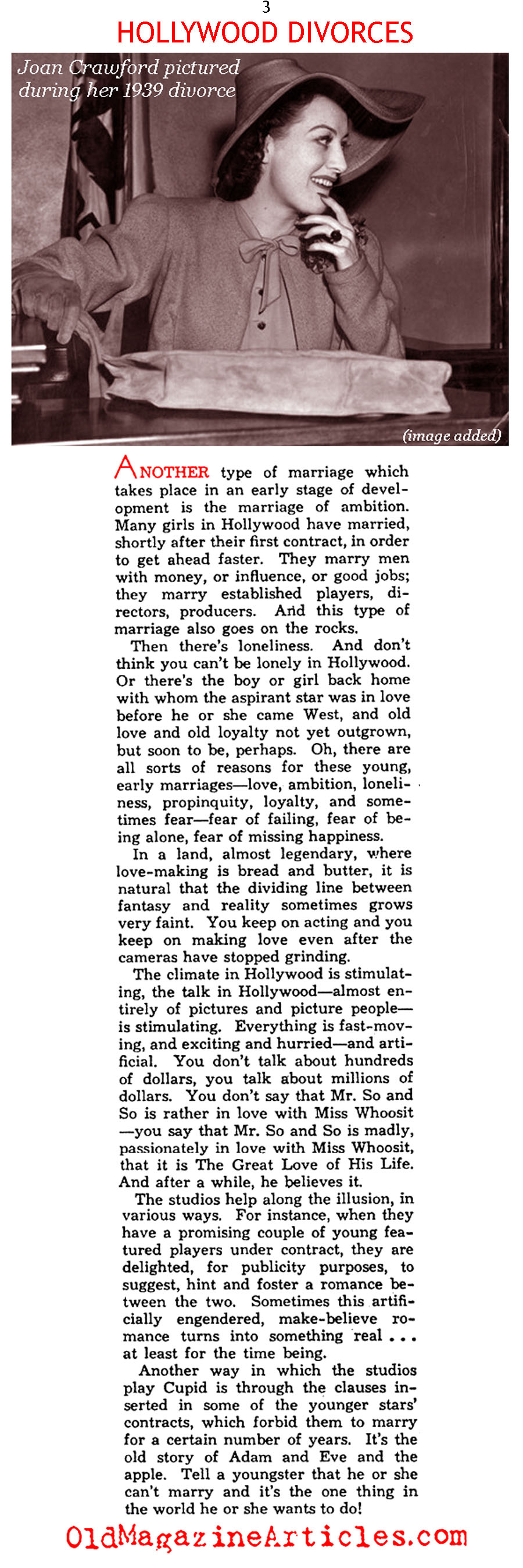 Hollywood's Case Against Monogamy (Photoplay Magazine, 1938)
